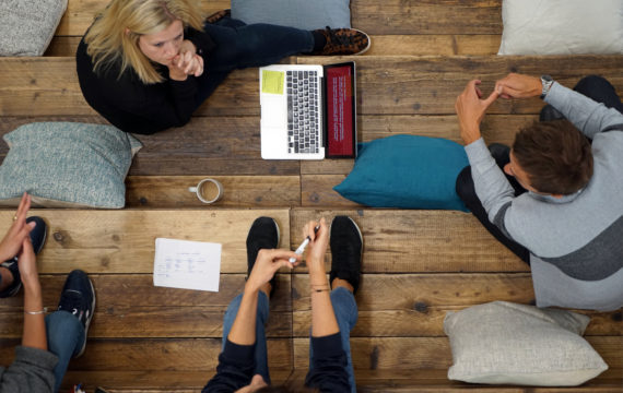 People in collaborative workspace