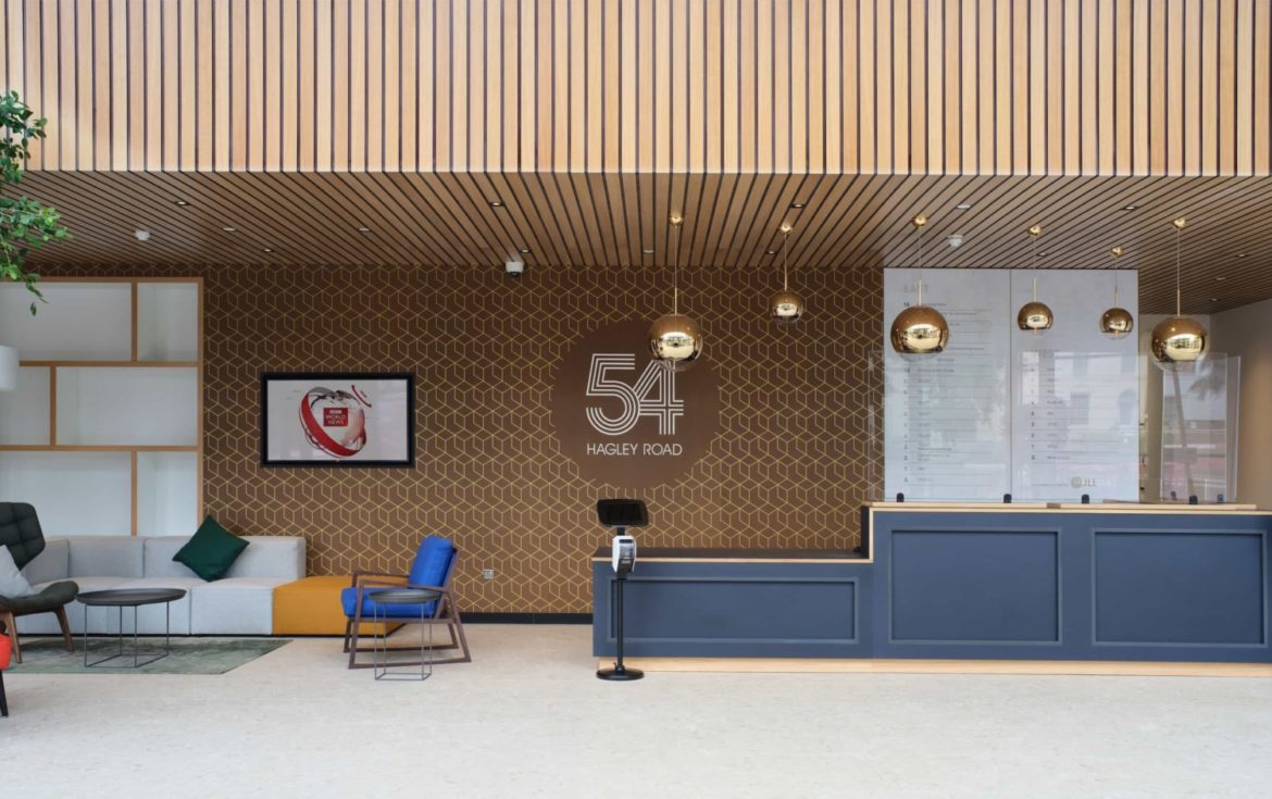 abrdn modern reception design and fit out
