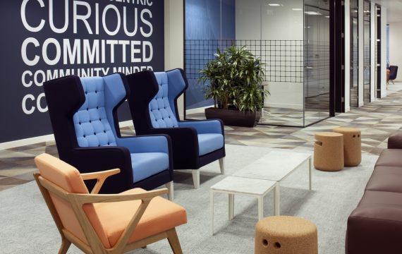 Morgan Lovell's office design for digital transformation at Riverbed