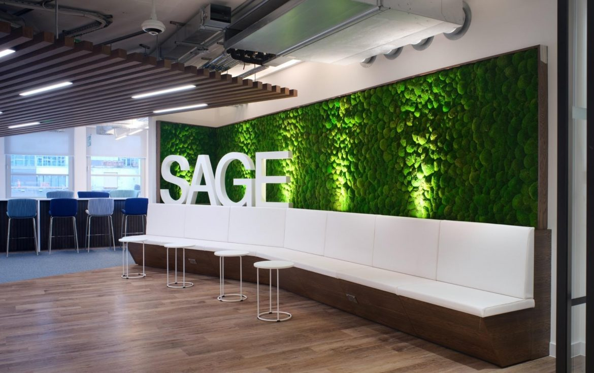 Sage Publishing trendy office fit out