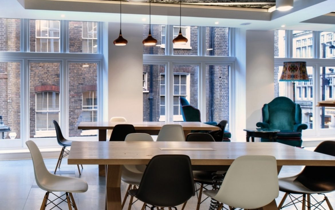 Morgan Lovell and ThoughtWorks, winners of the Mixology Award from Small Commercial Interior Project of the Year