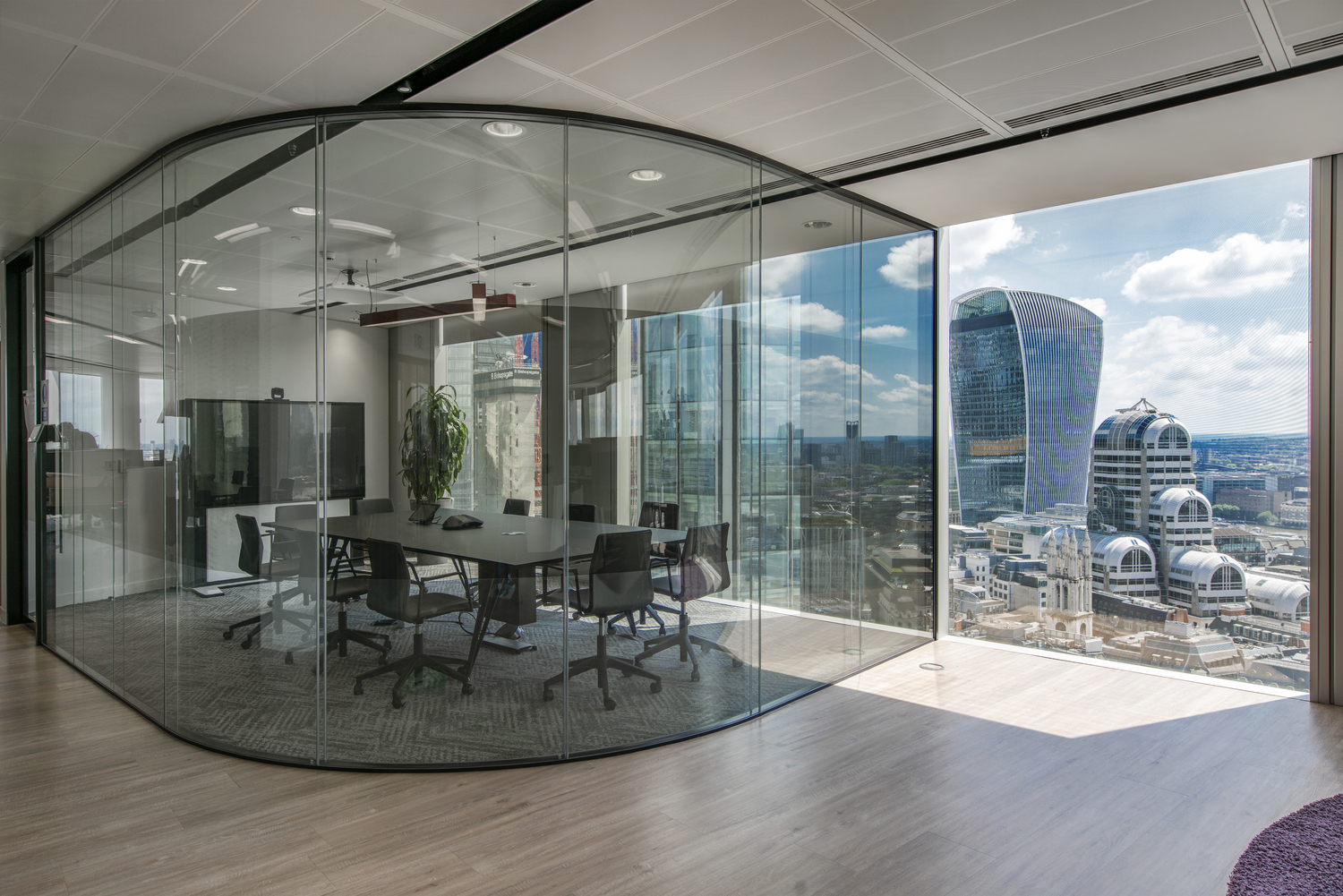 Equifax boardroom designed with privacy