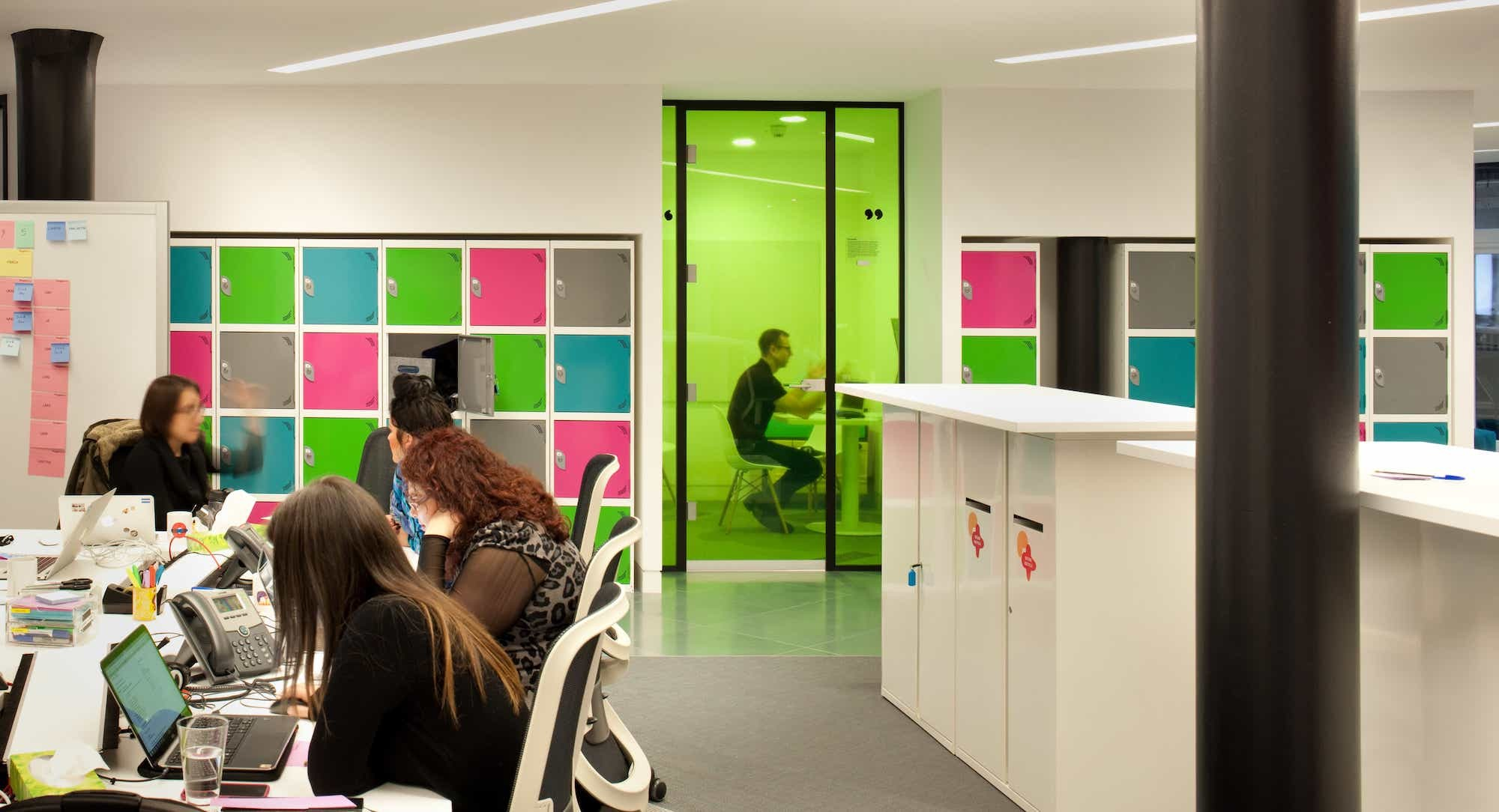 Office fit out lockers meeting pod