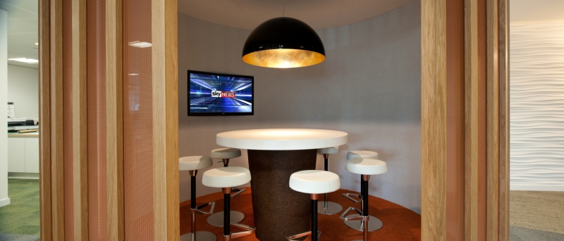 office design with flat screen TV intelligent use of space