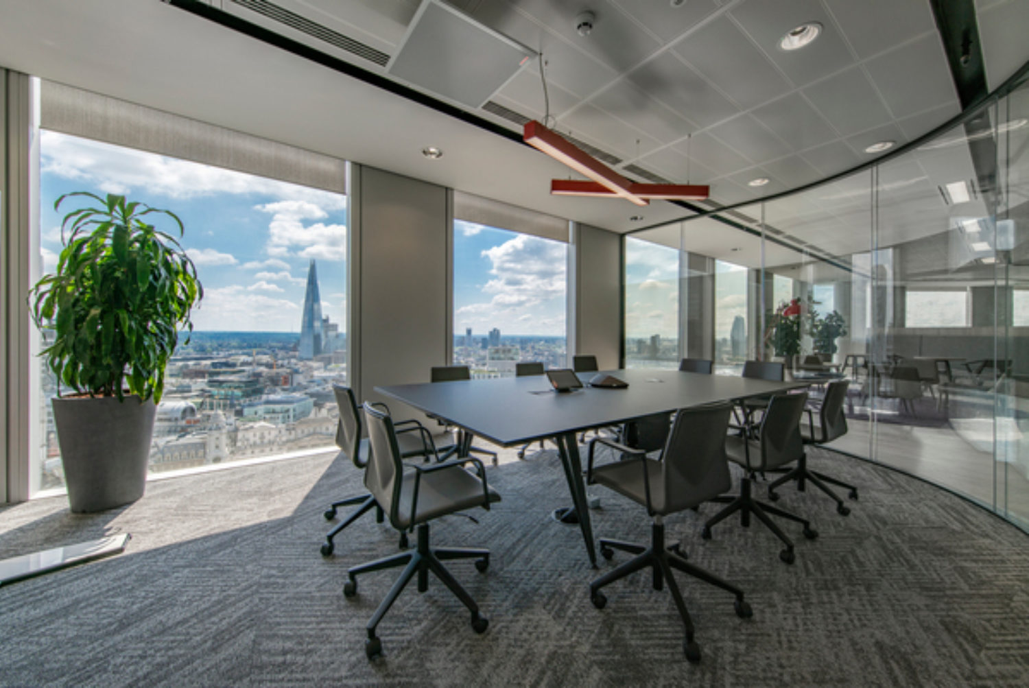 Equifax meeting space designed with views