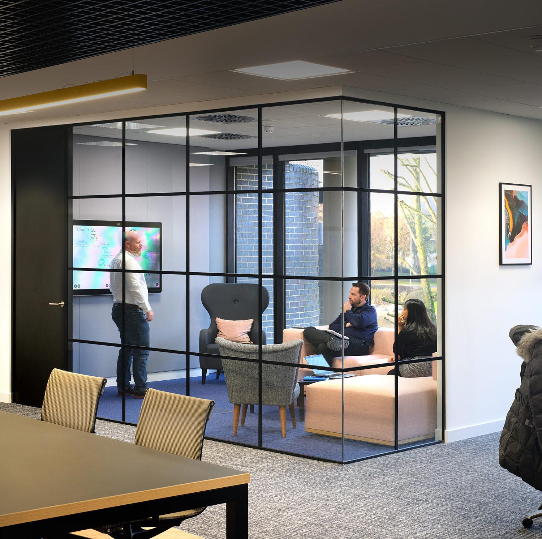 Meeting room in post pandemic office