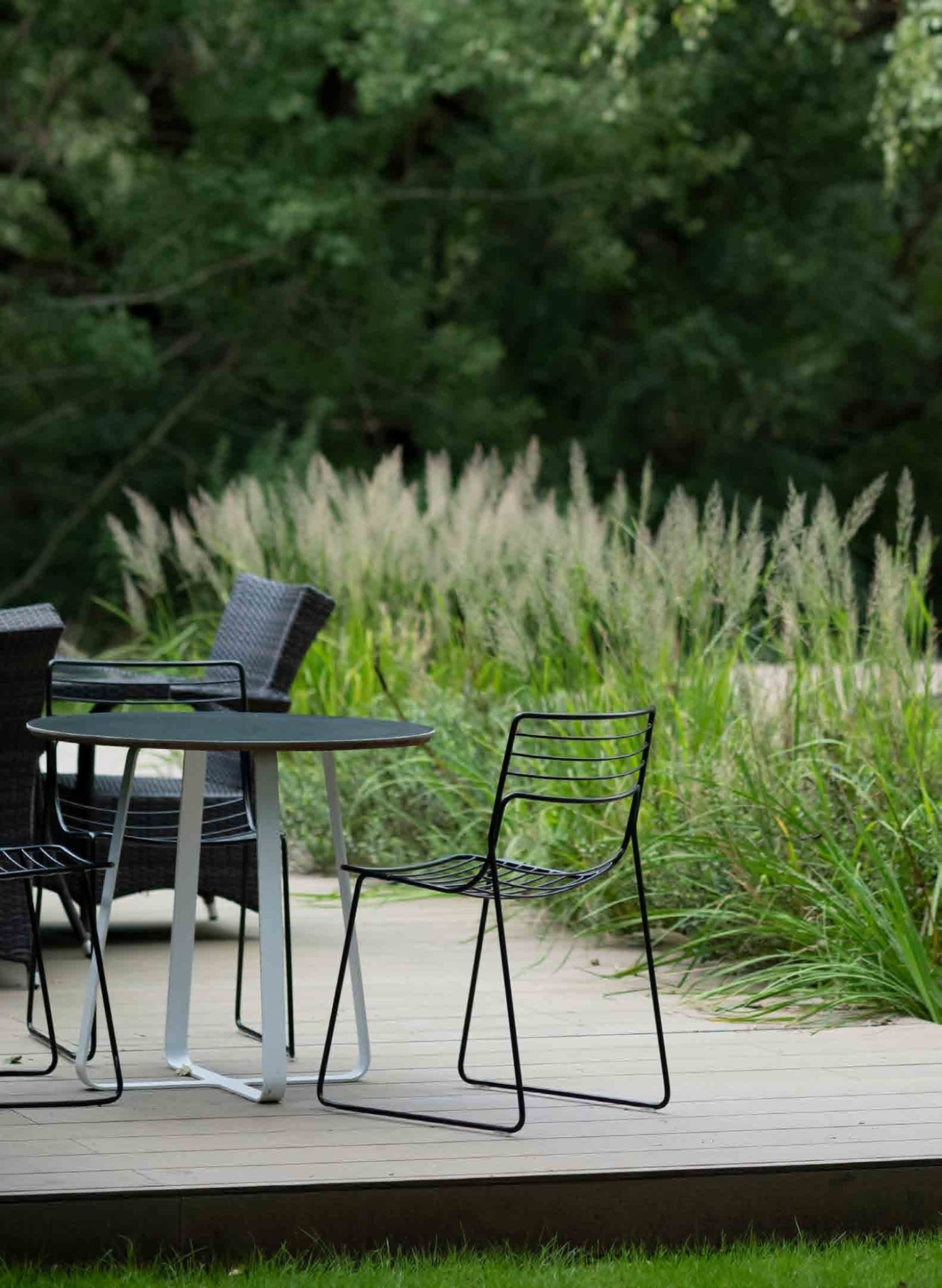 Table and chairs in outdoor office