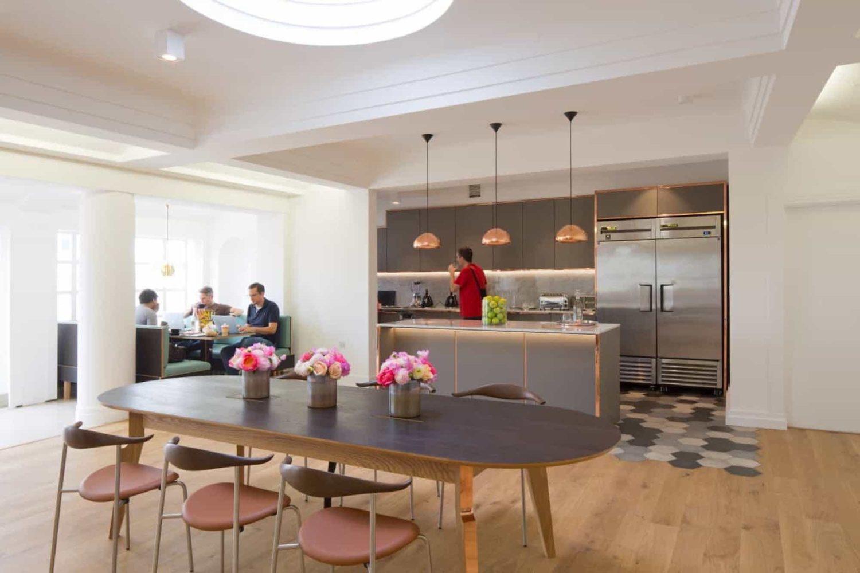 office kitchen designed for balance