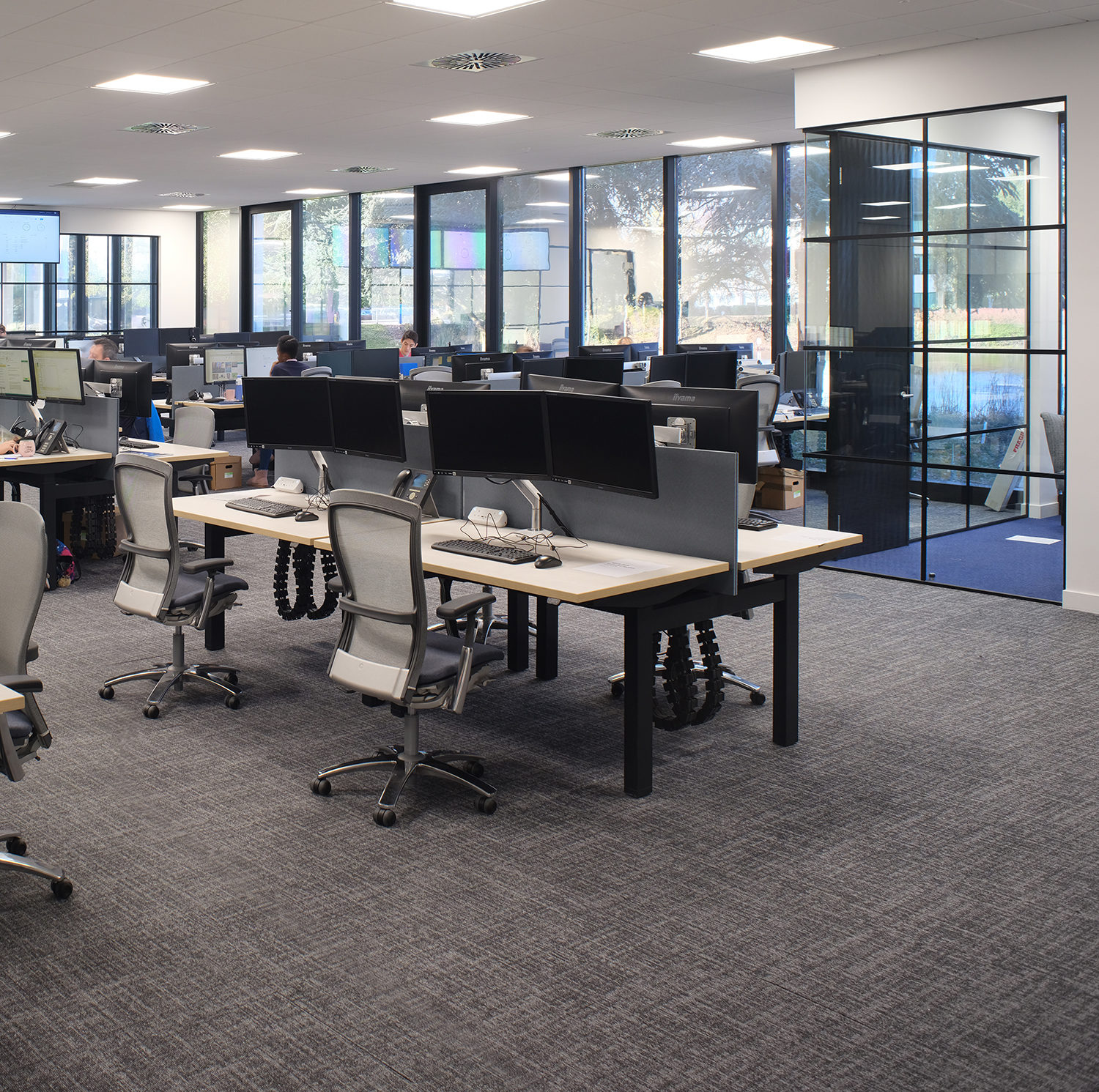 Open plan cat b fit out