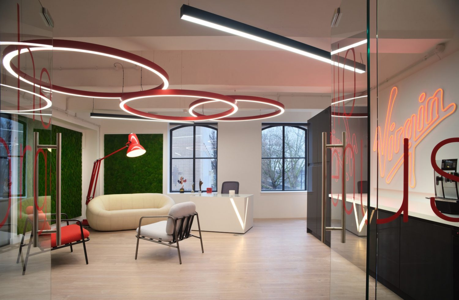 Virgin Loyalty reception fit out