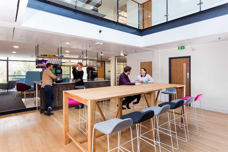 AMC Networks staff cafe design