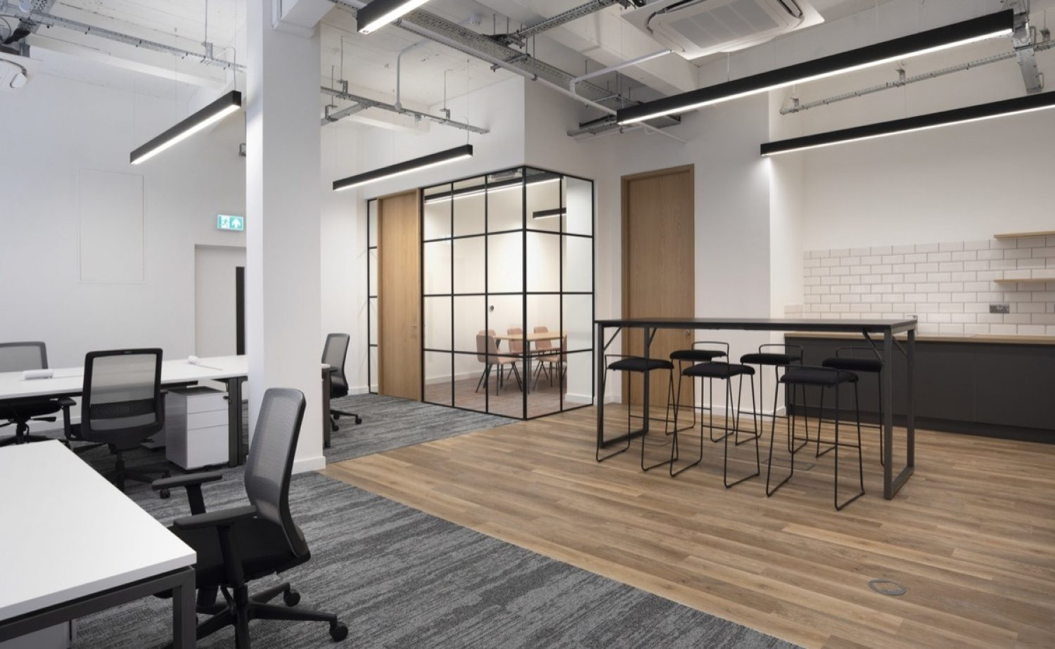 Aegon open plan office fit out