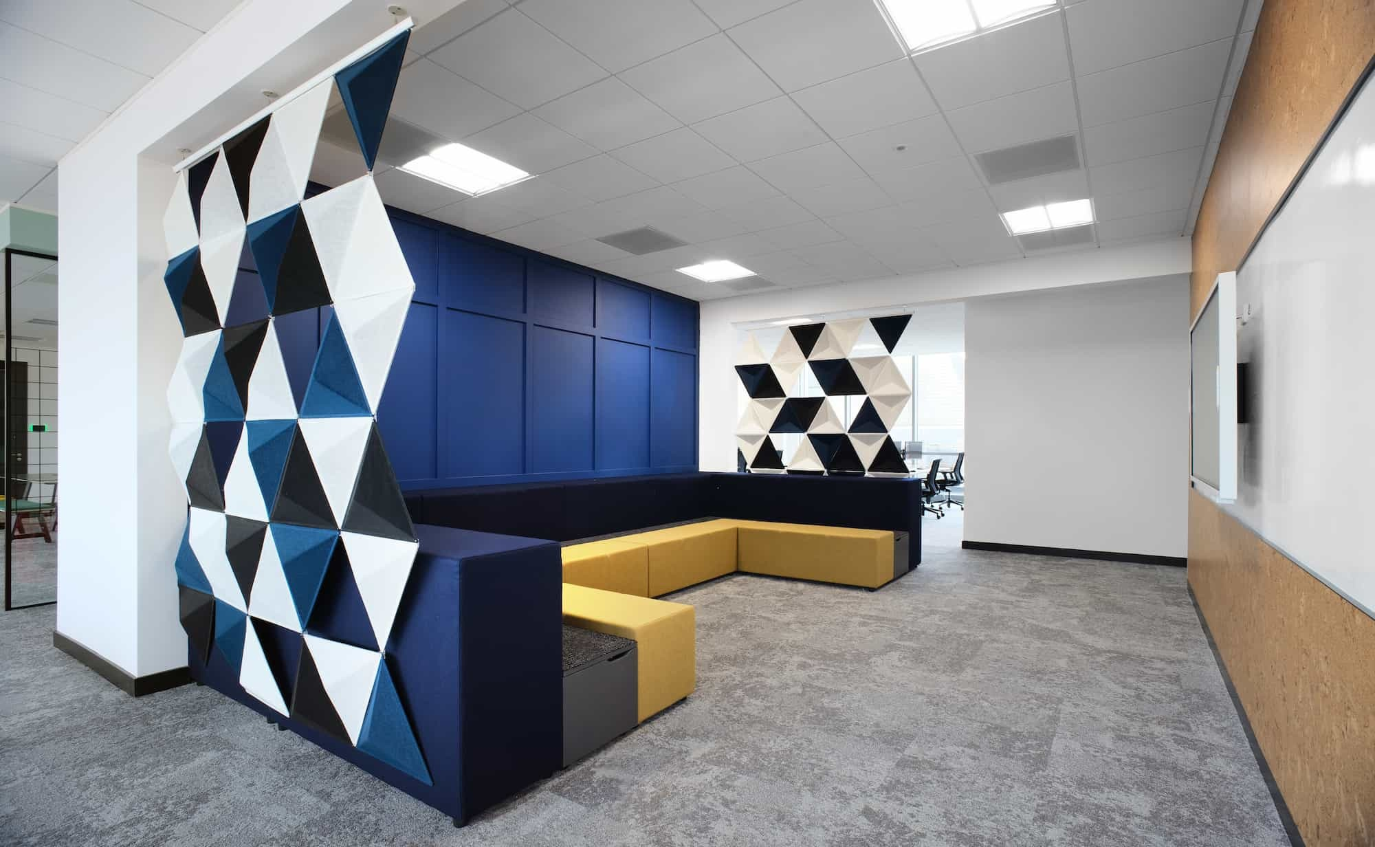 Causeway bleachers in office fit out