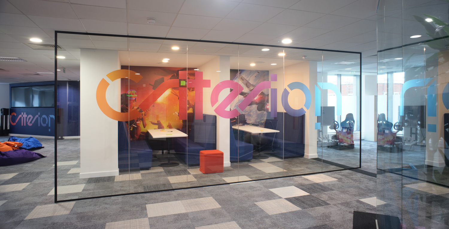 EA breakout booths in open plan fit out