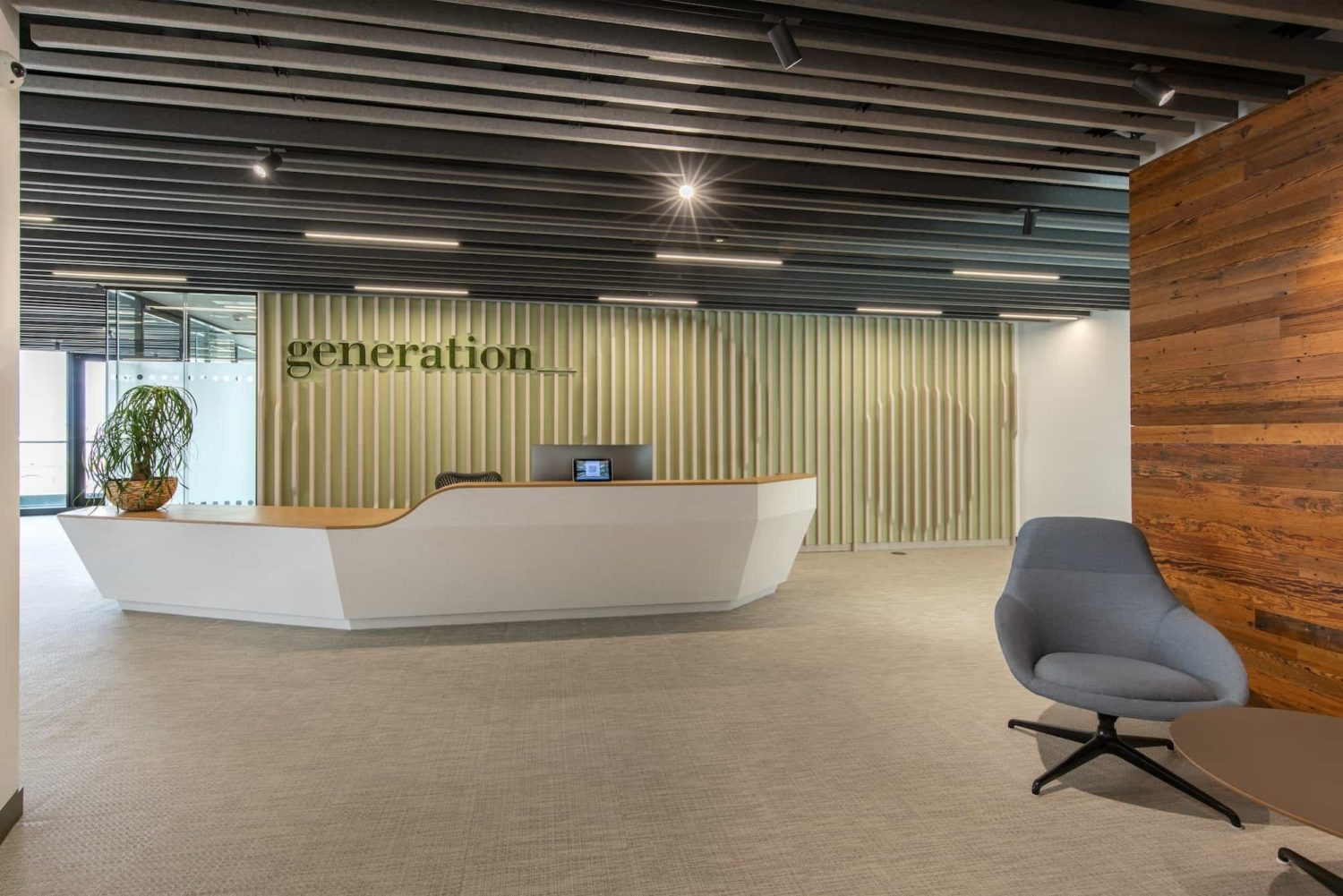 Generation light filled reception design and fit out