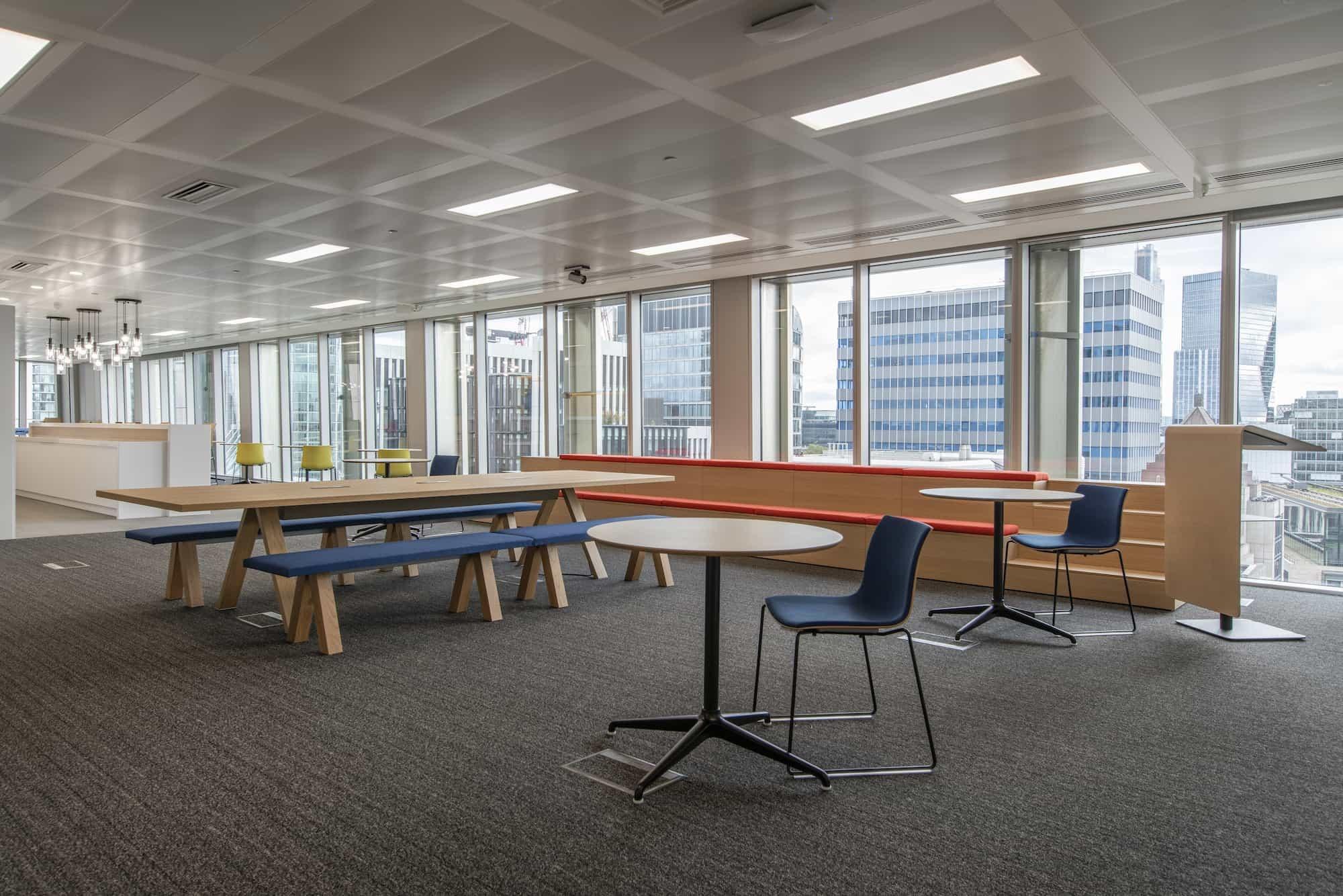 MarketAxess banquet table in office refurbishment