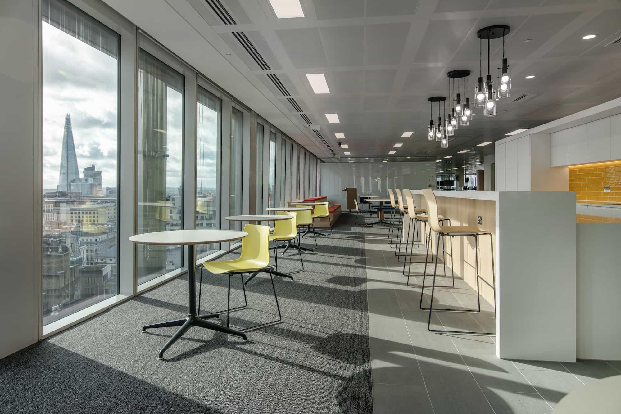 MarketAxess office refurbishment natural light