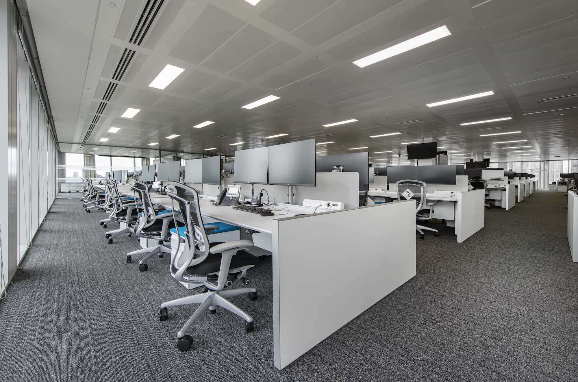 MarketAxess open plan office refurbishment