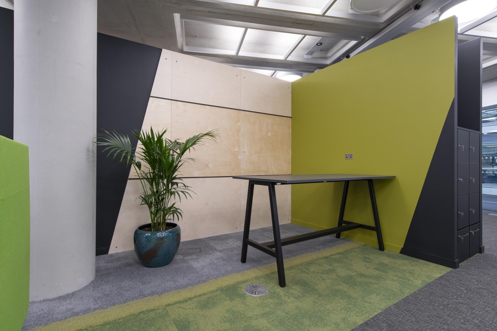 Metapack stand up desk in office refurbishment