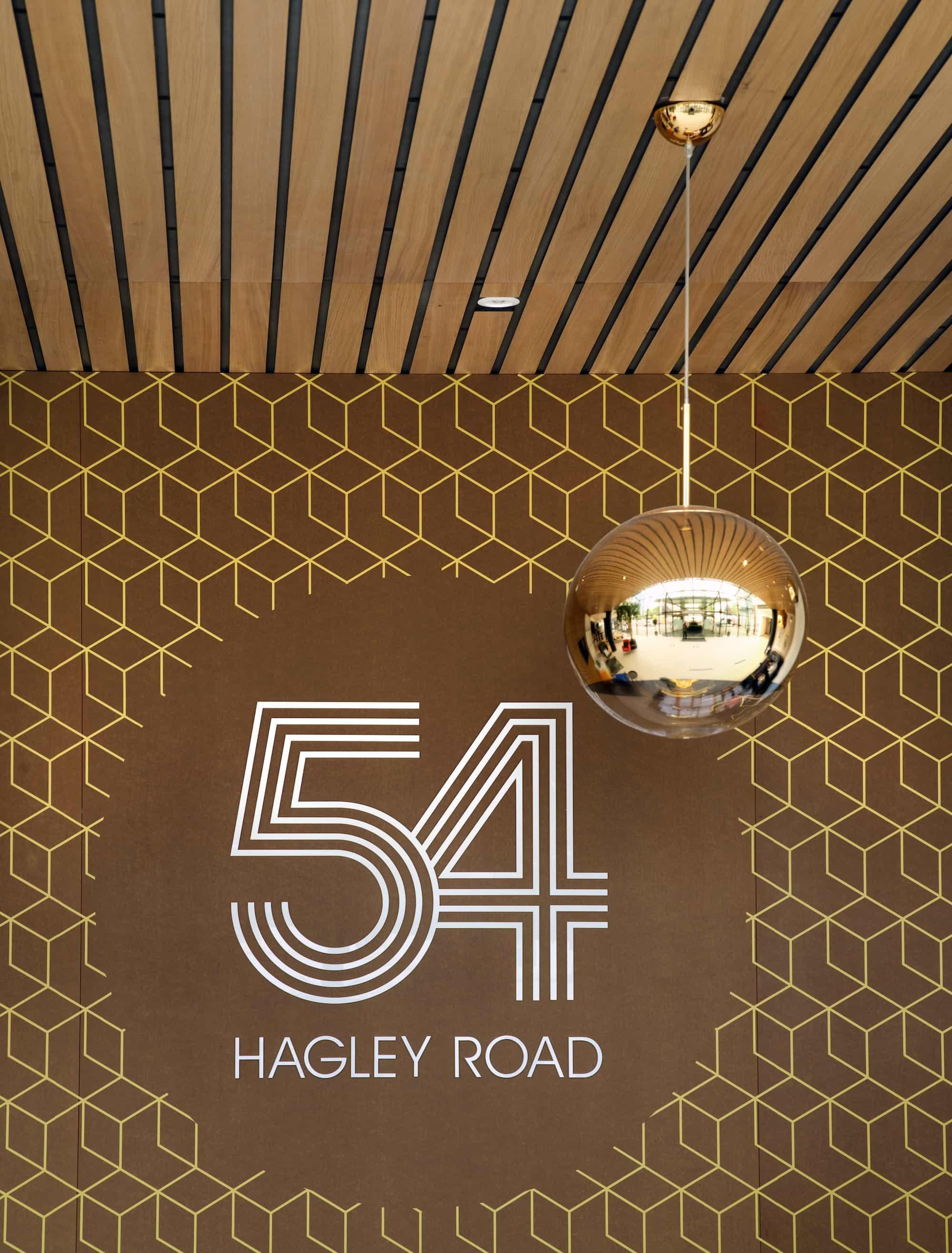 54 Hagley Road Sign