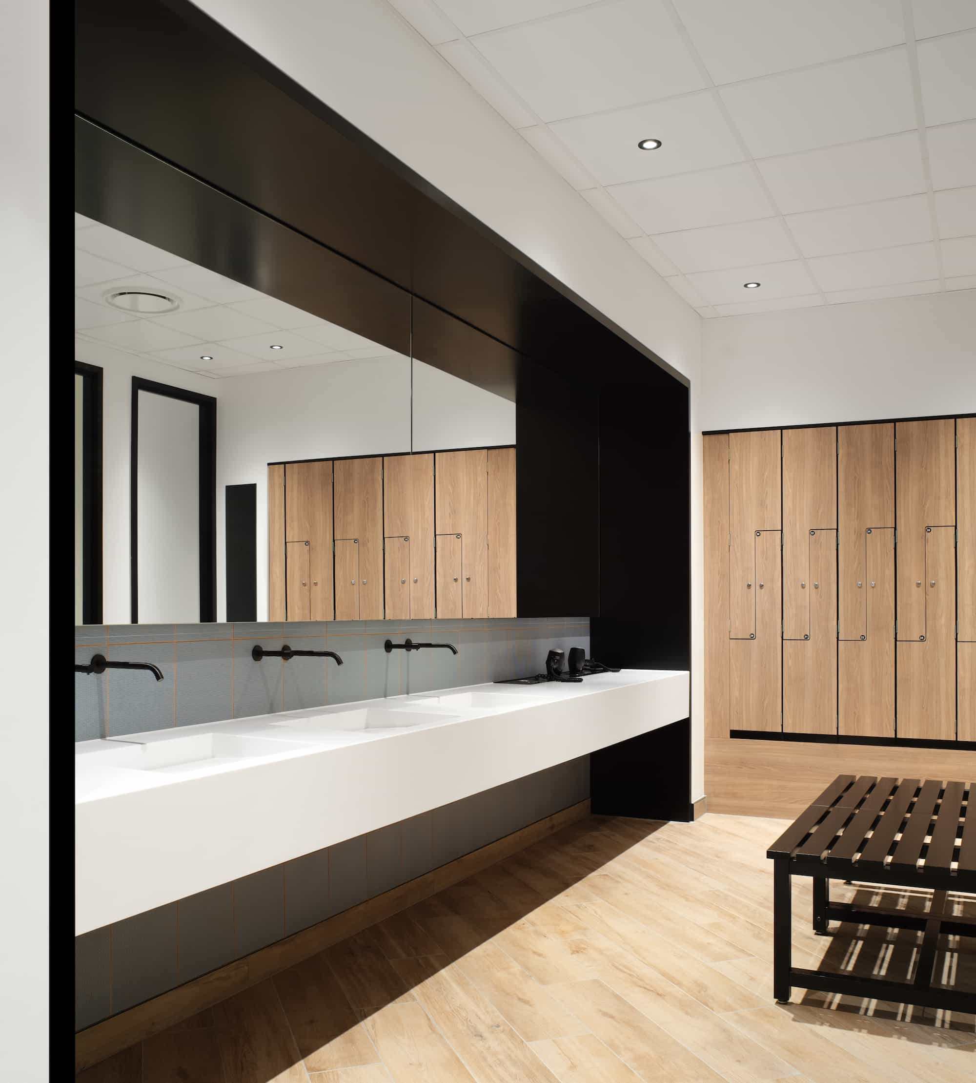 Office changing room design and fit out
