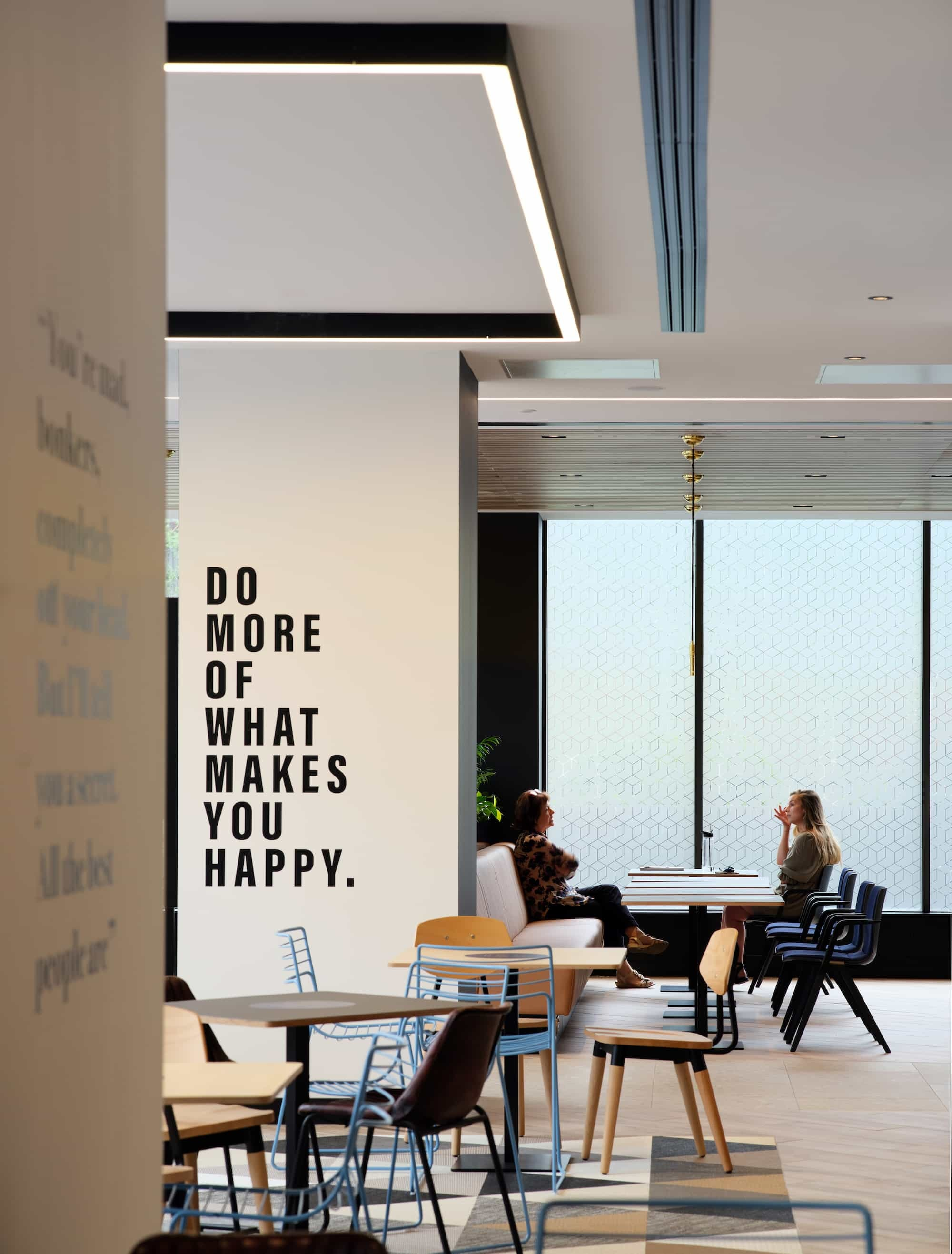 Workers in modern office fit out