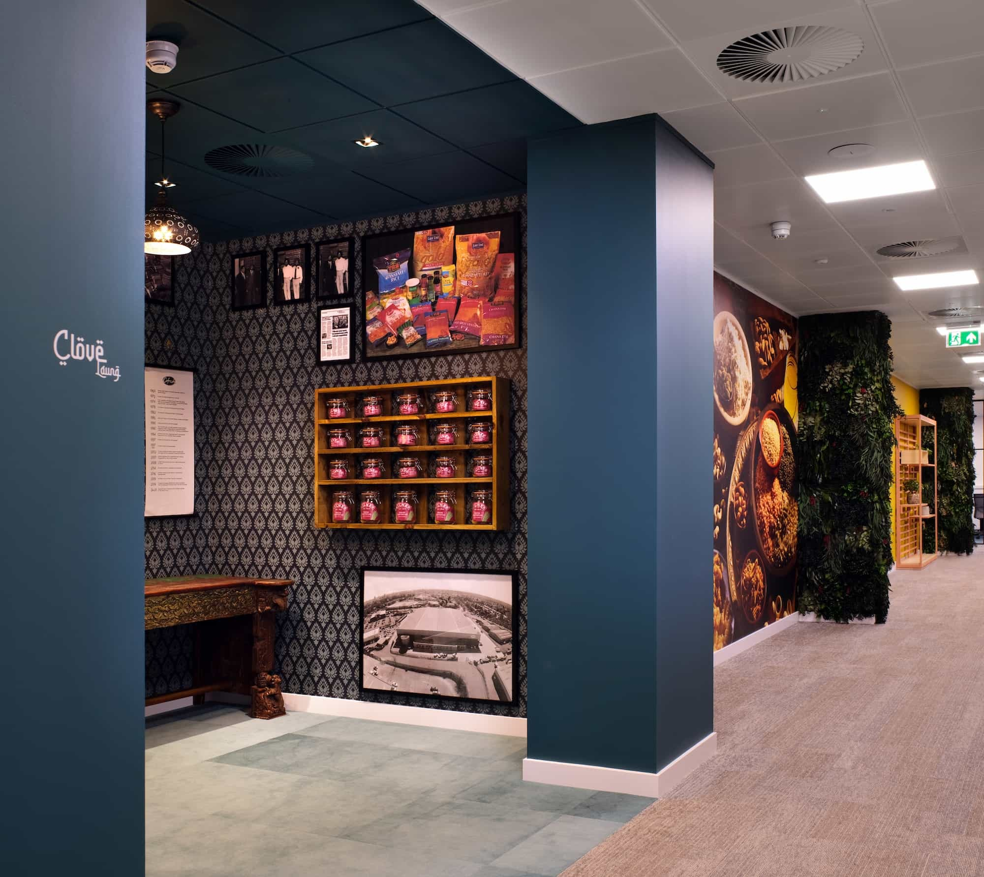 Vibrant foods bespoke cabinetry