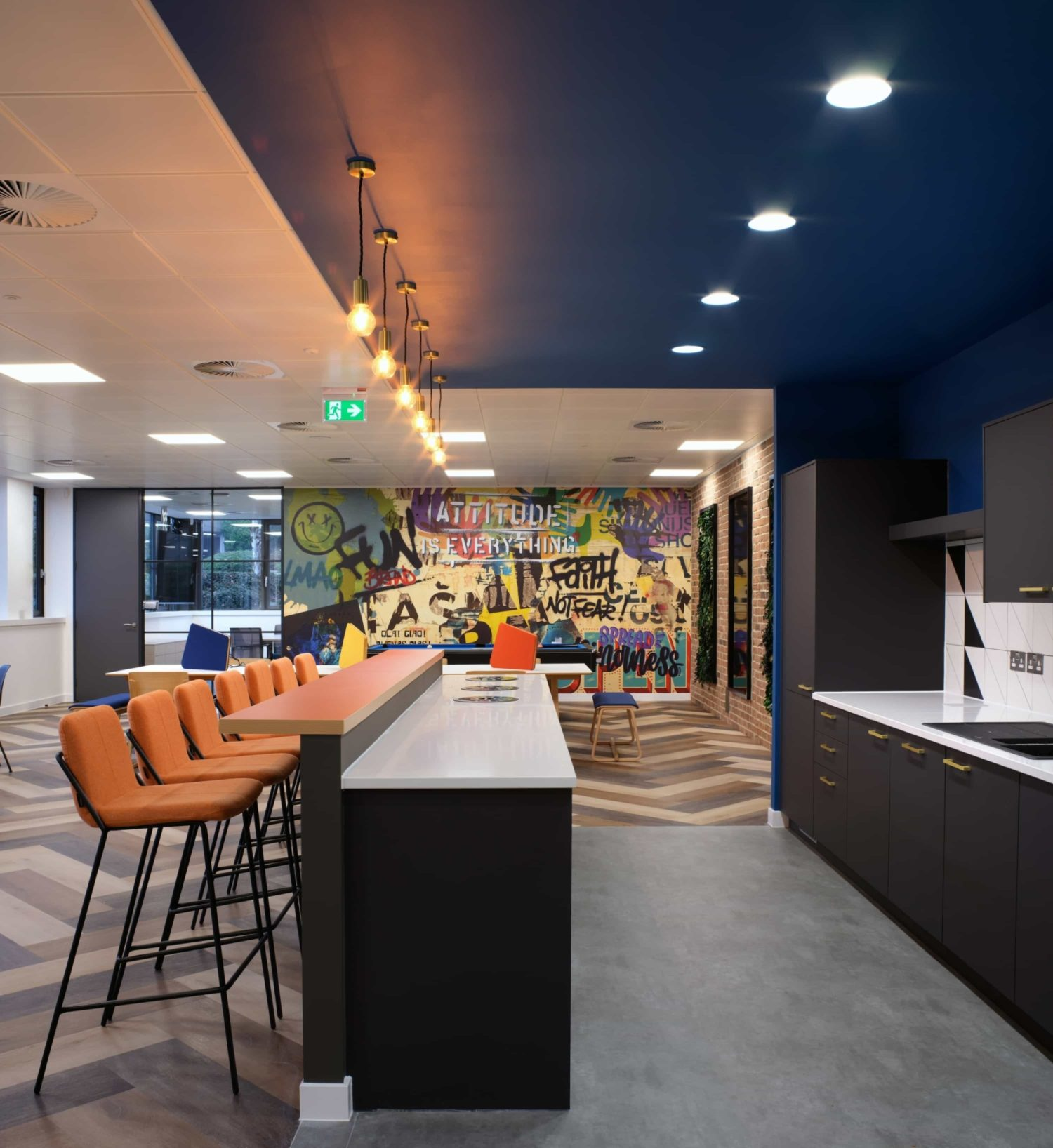 Vibrant Foods staff dining area fit out