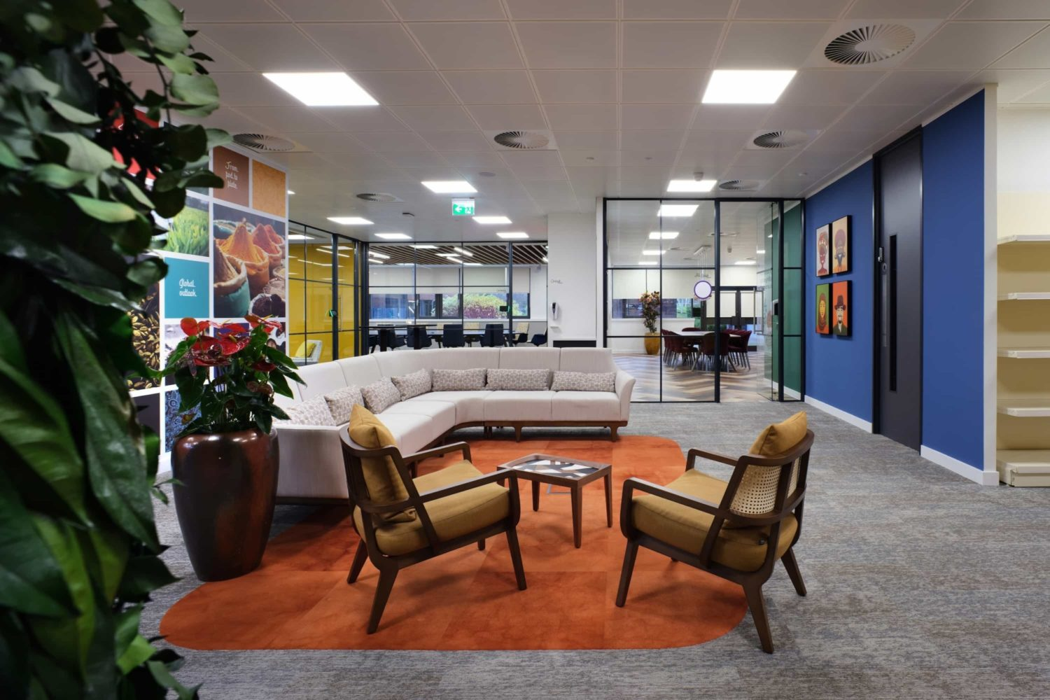 Vibrant foods breakout area fit out