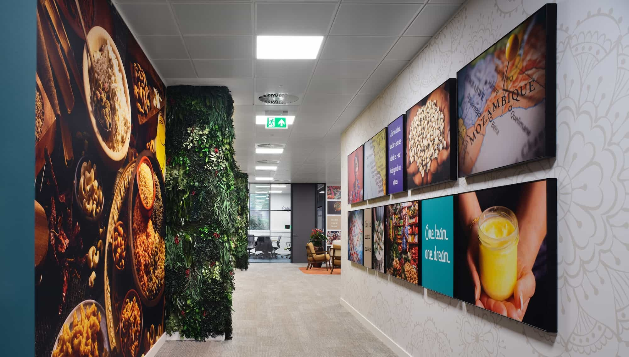 Vibrant foods gallery office design