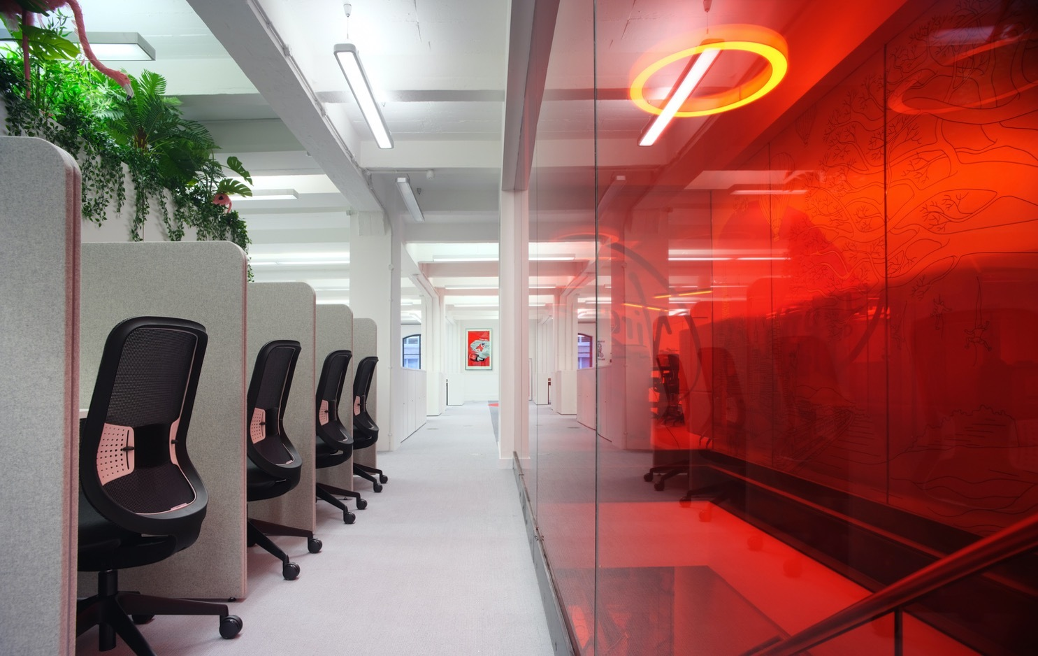 Virgin Red office pod fit out