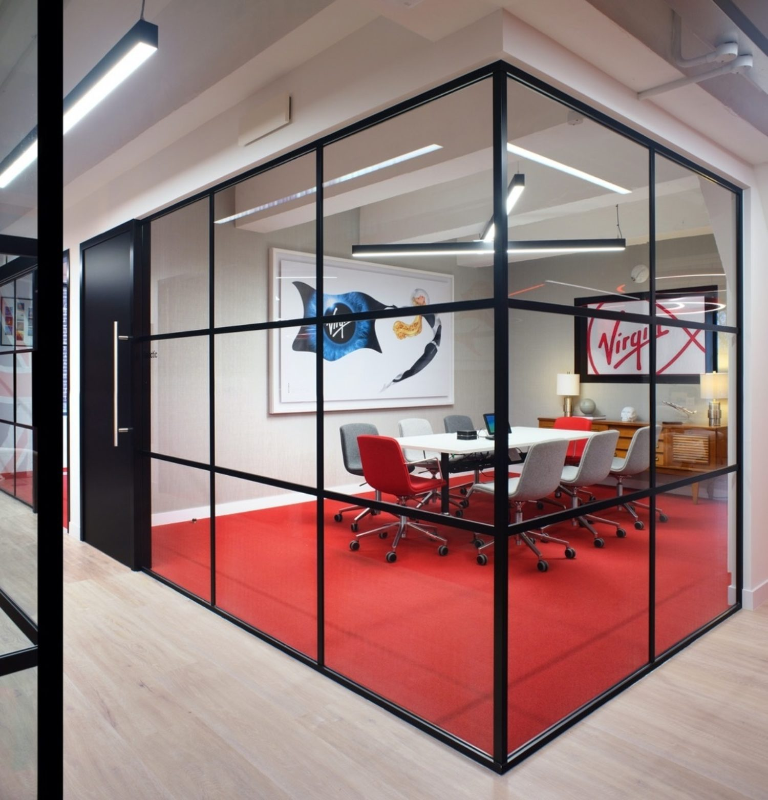 Virgin Red meeting space design