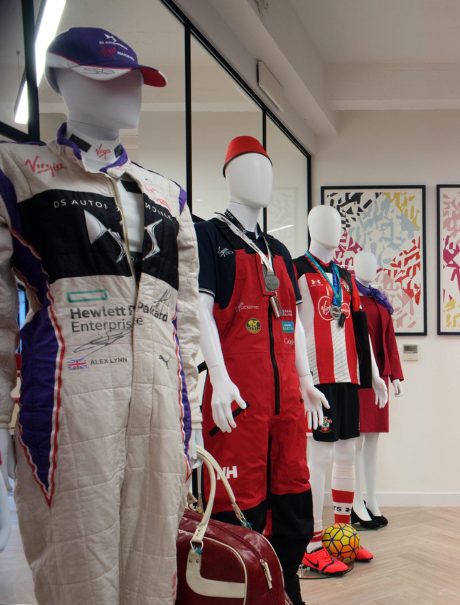 Virgin uniforms in comunal space