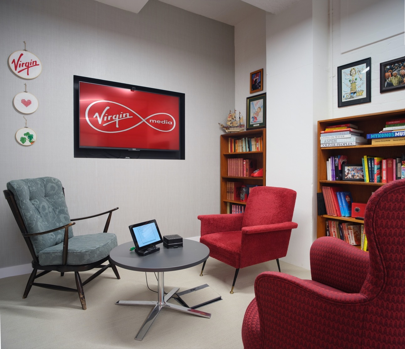 Virgin Red chairs in meeting room design
