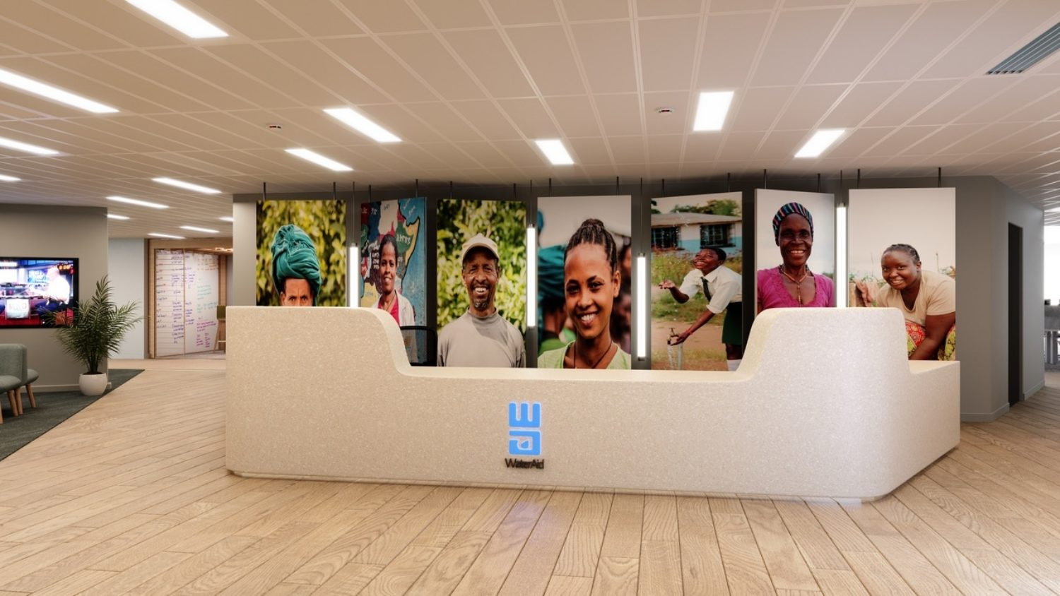 WaterAid office reception fit out