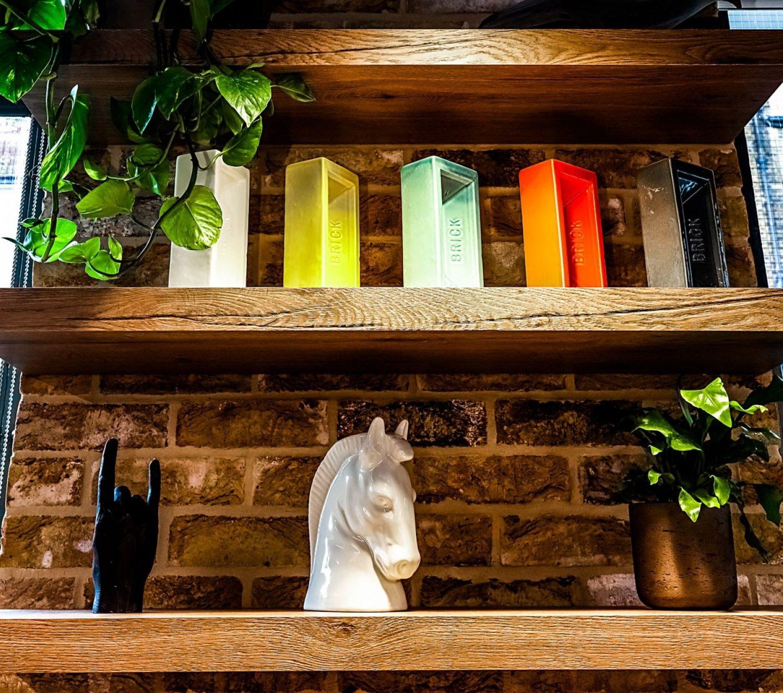 Noel Street Brick Cabinet in office