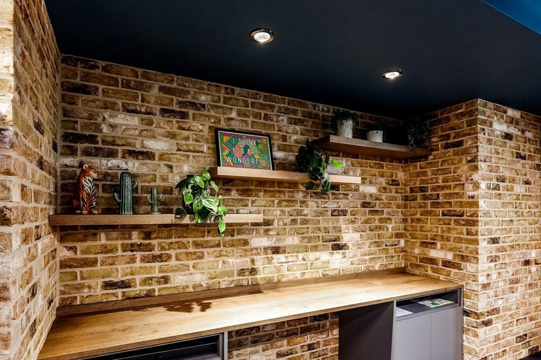 Noel Street Brick Wall in office
