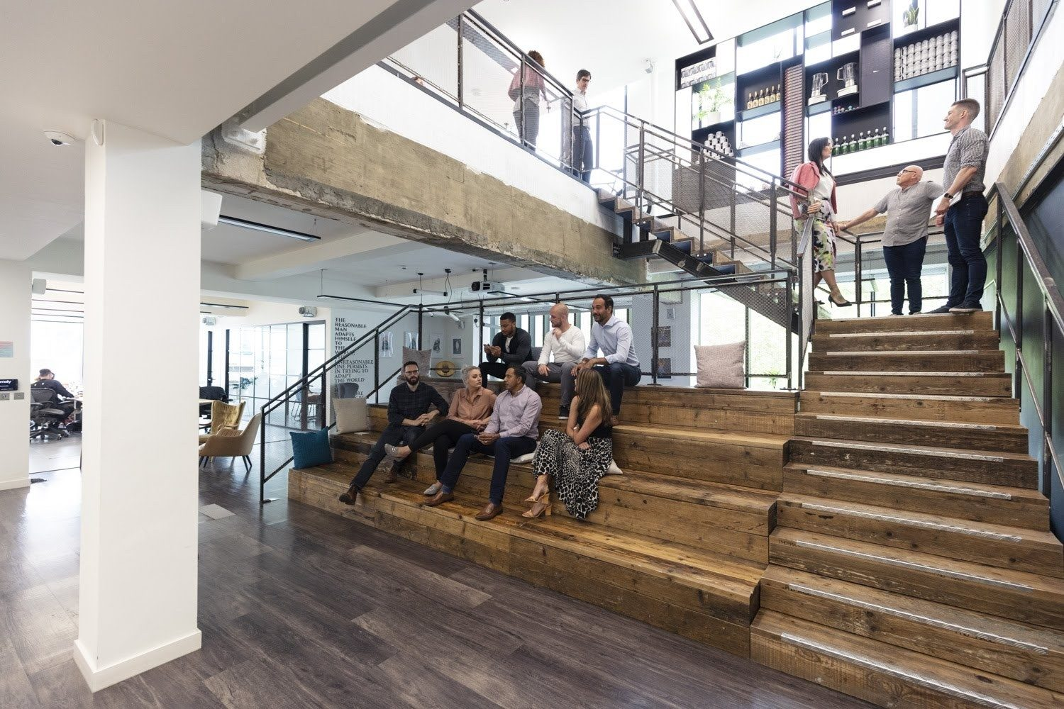 Collaboration space in office design