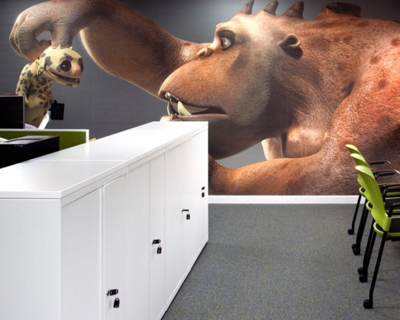 Autodesk staff lockers wall detail