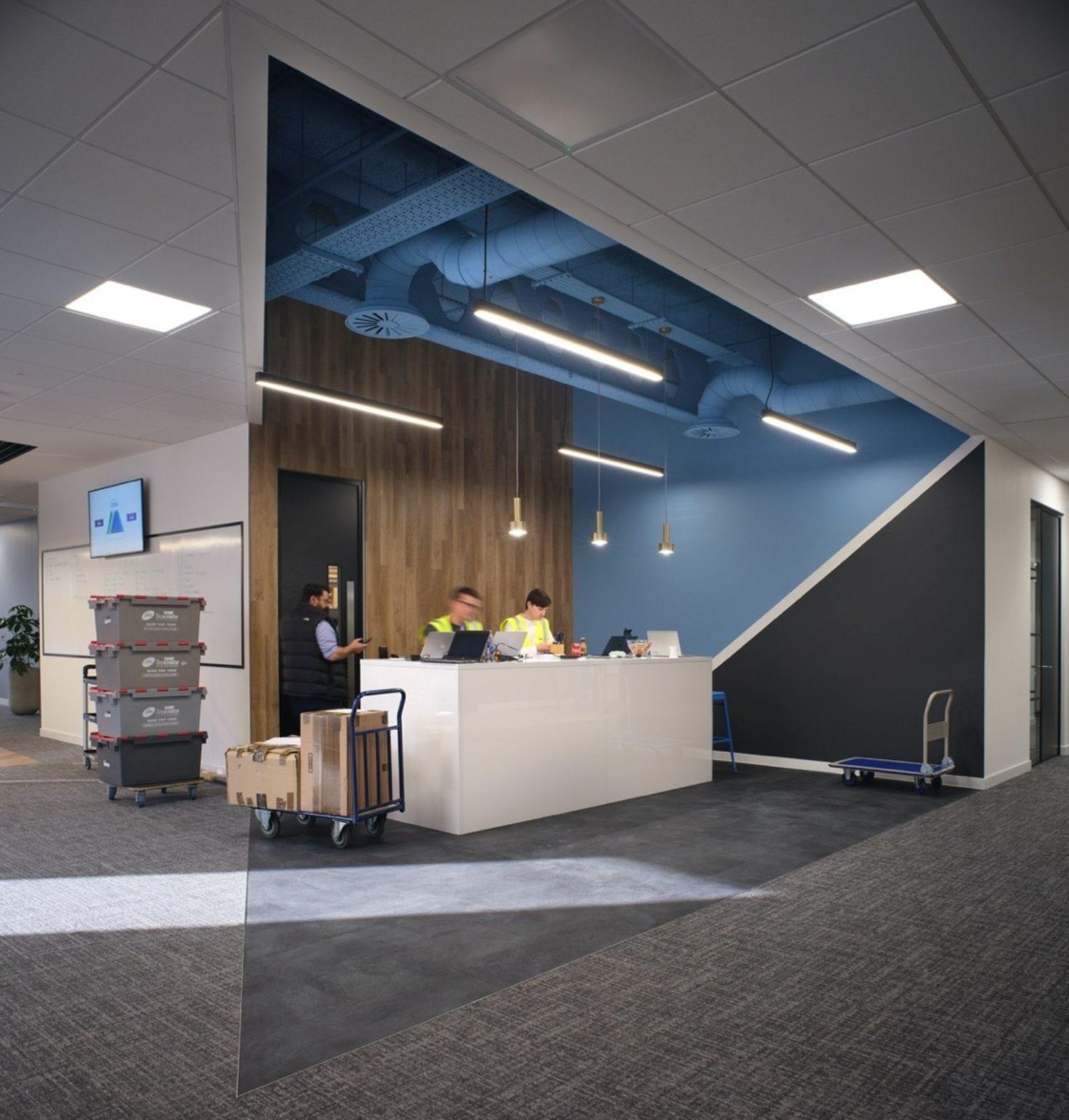 Bottomline reception area design