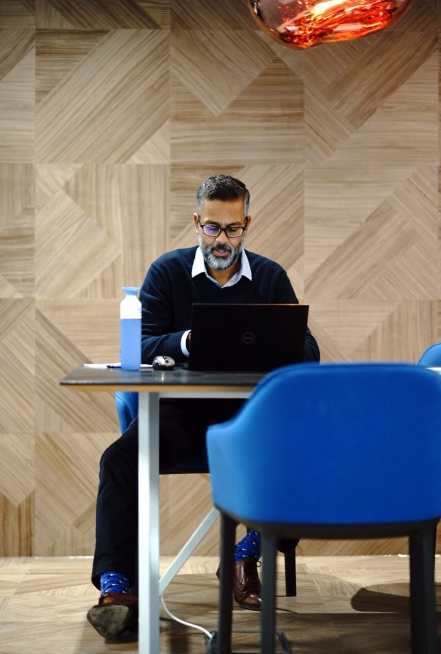 Man working at office desk