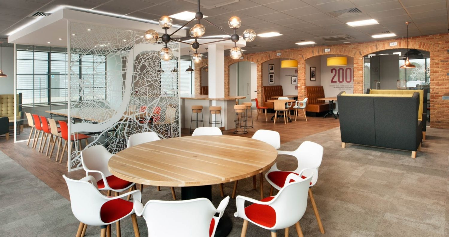 Costa breakout area in new office relocation