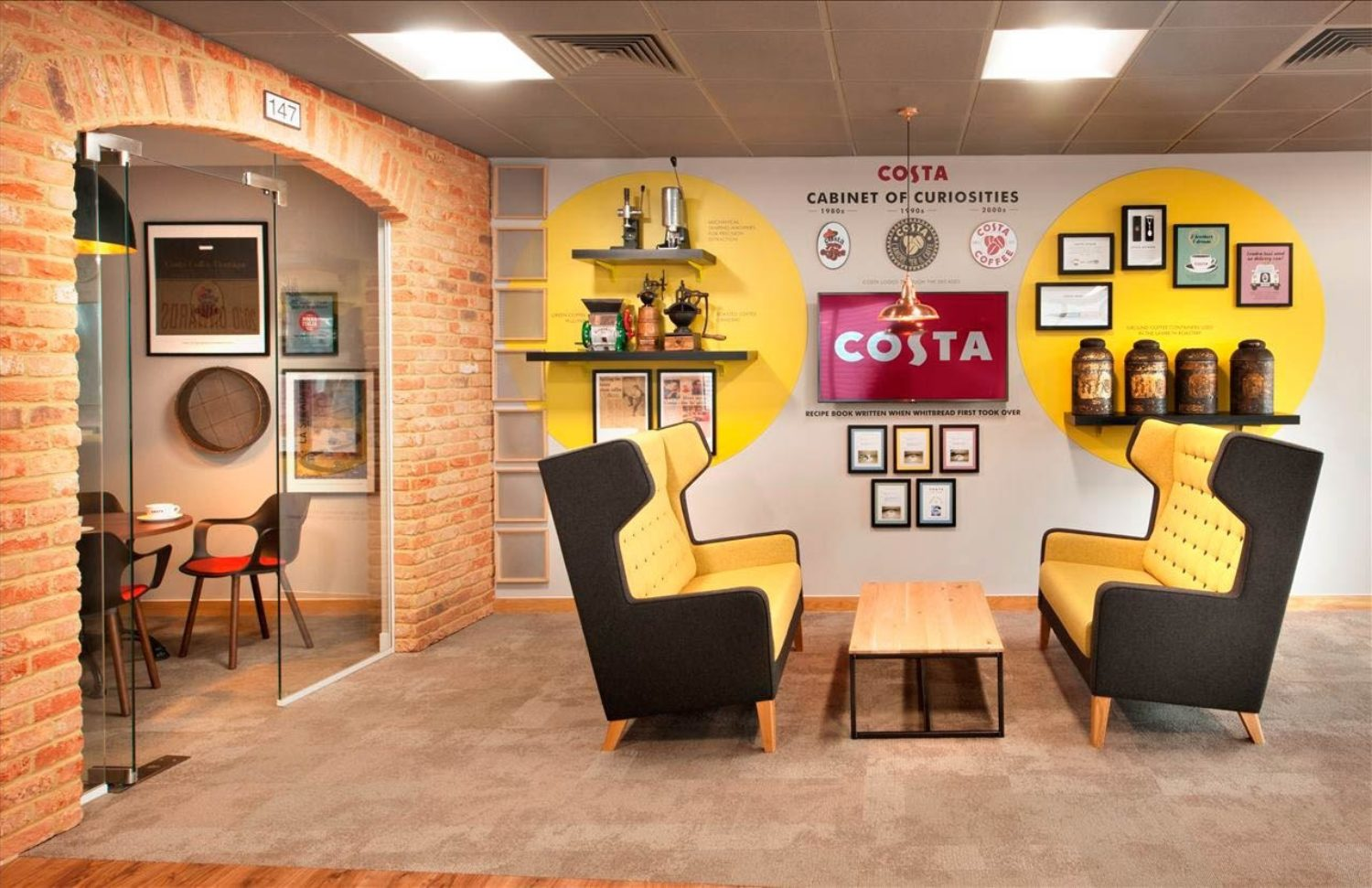 Costa modern office design breakout area