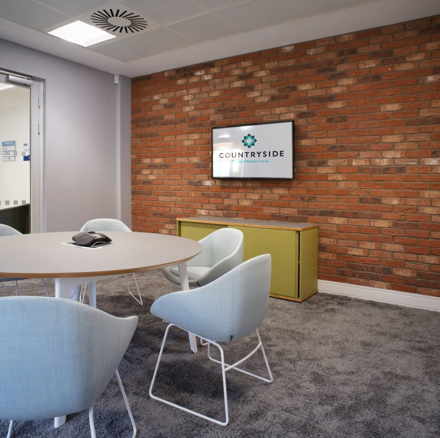 Conference room with modern office design