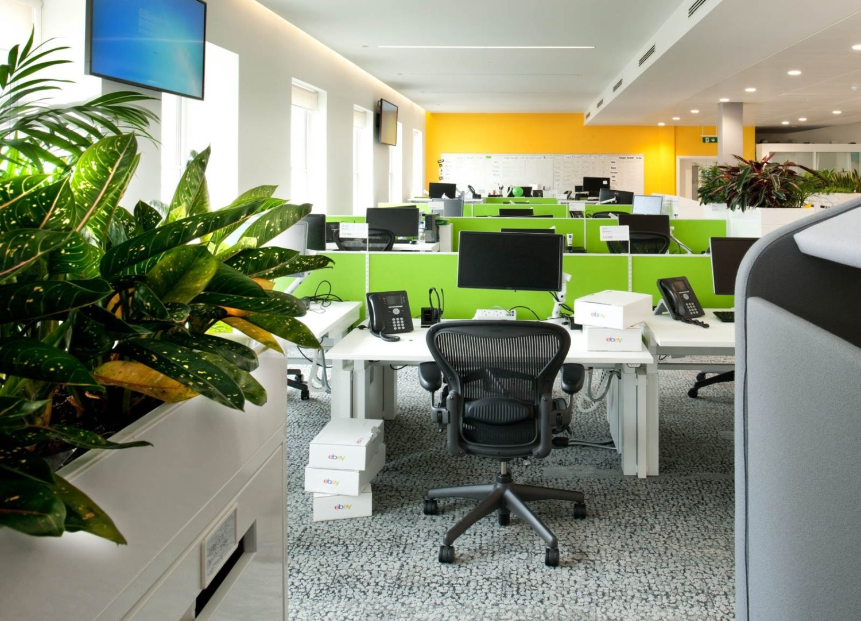 eBay biophilic open plan office design