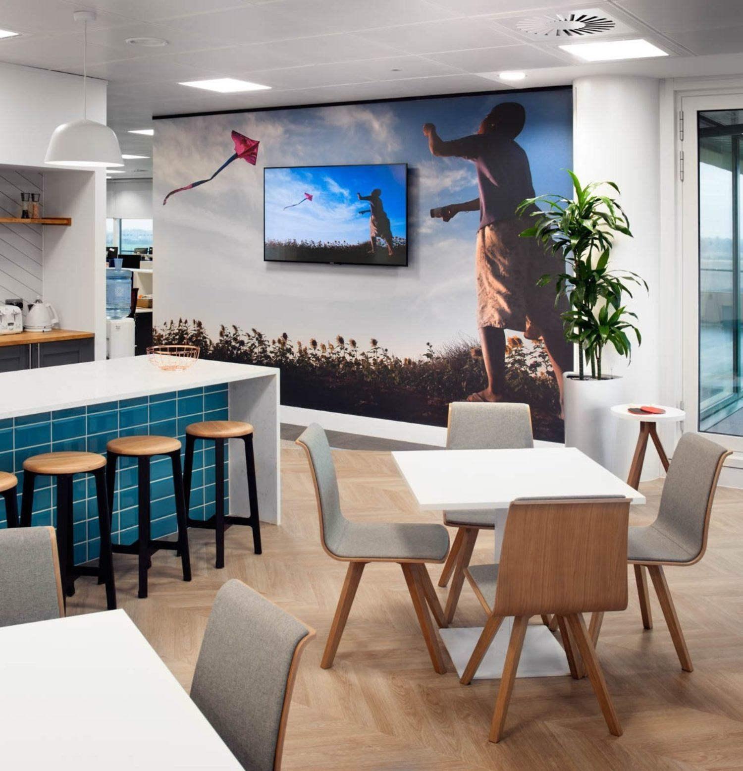 EUSA pharma office kitchen seating