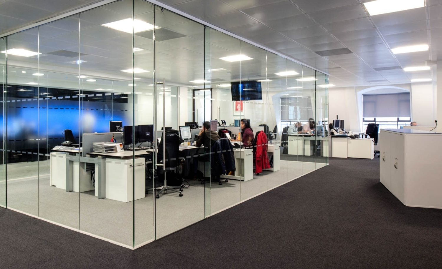 FirstRand glass wall office space design