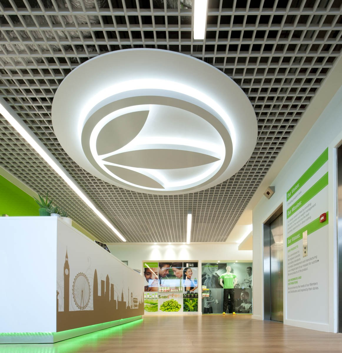 Herbalife ceiling detail in office fit out