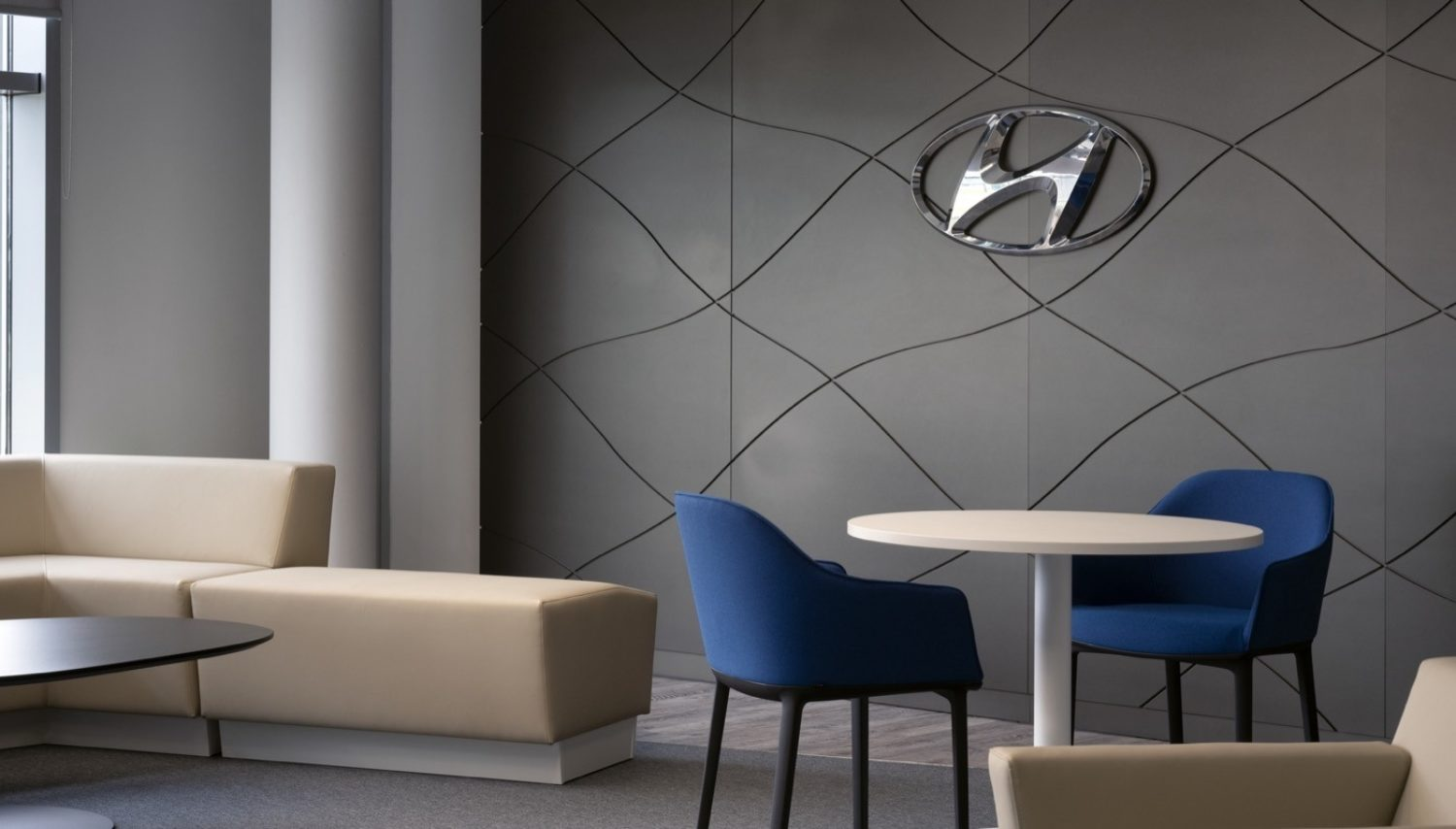 Hyundai interior design textured wall covering