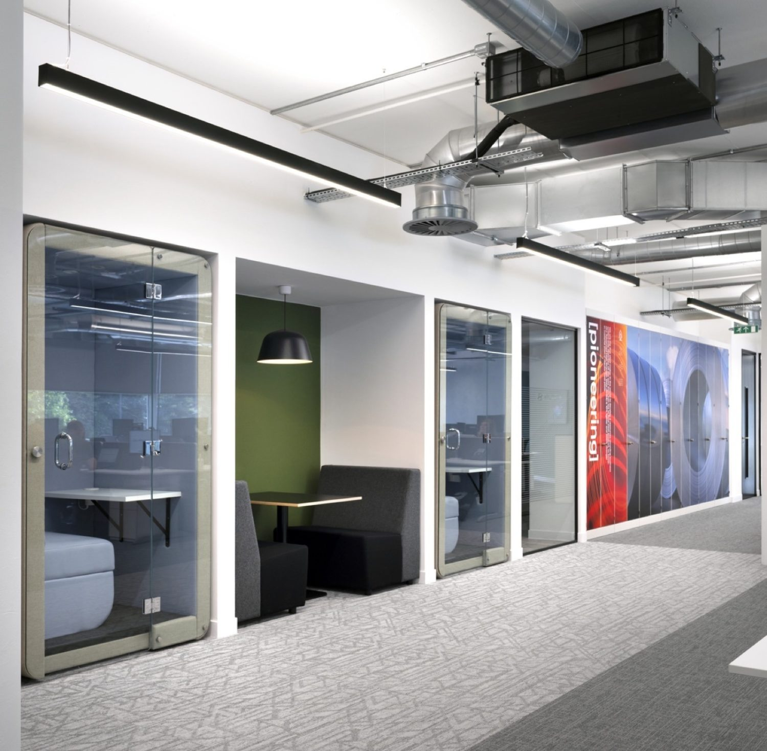 Hyundai office fit out exposed services